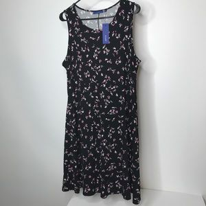 Apt 9 Skater Dress Size XL Abstract Print New